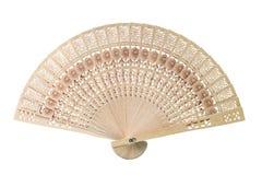 Sandalwood fan. The sandalwood fan isolated on white background Stock Photo