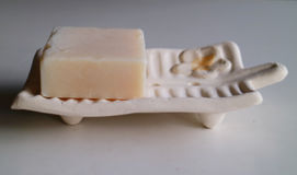 Sandalwood Soap. For home spa and aromatherapy Royalty Free Stock Photography