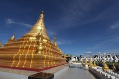 Sandamani Paya in Mandalay. Myanmar, golden stupa in Sandamani Paya in Mandalay stock photo