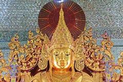 Sandamuni Pagoda, Mandalay, Myanmar. Sandamuni Pagoda is a Buddhist stupa located southwest of Mandalay Hill. It was commissioned by King Mindon Min in 1874 as a stock image
