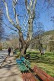 SANDANSKI, BULGARIA - APRIL 4, 2018: Spring view of park in town of Sandanski Royalty Free Stock Image