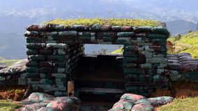 Sandbag bunker Royalty Free Stock Photos