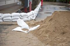 Sandbag Protection Stock Image