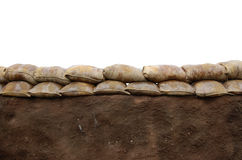 Sandbag wall Stock Photos