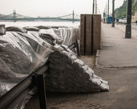 Sandbag Wall, Budapest Royalty Free Stock Photography