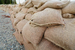 Sandbag Wall Stock Image