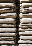 Sandbag wall Royalty Free Stock Photography