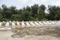 sandbags Obrazy Royalty Free