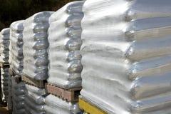 Free Sandbags Bags White Pallet Sacks Stacked Stock Images - 13974754