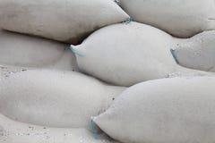 Sandbags on beach Royalty Free Stock Photo