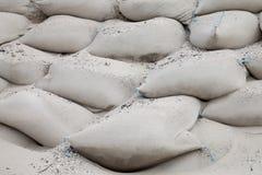 Sandbags on beach Stock Photo