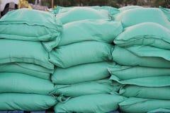 Sandbags closeup Royalty Free Stock Photos