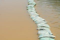 Sandbags flood protection Royalty Free Stock Photos