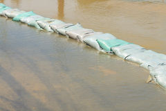 Sandbags flood protection Stock Images