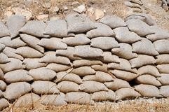 Free Sandbags, Piled Up As Protection For Landslip Royalty Free Stock Image - 118294296