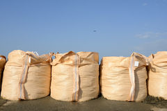 Sandbags for protection Stock Photos
