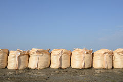 Sandbags for protection Royalty Free Stock Photo
