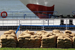 Sandbags Royalty Free Stock Images