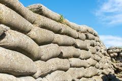 Sandbags world war 1 trench of death Flanders Belgium stock photography