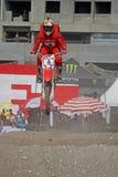 Sandbahn-Motorrad-Laufen Stockfotos