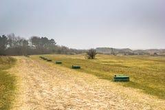 Sandbana i dyn, Holland Arkivfoton