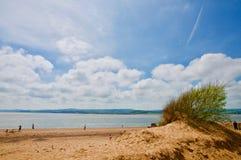 Sandbank and the beach stock image