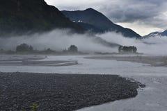 Sandbank and fog Royalty Free Stock Photo
