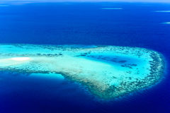 Sandbank i den manliga atollen, Arkivbilder