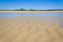 Sandbank at low tide Royalty Free Stock Photo