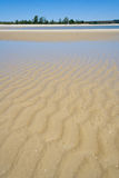 Sandbank at low tide Royalty Free Stock Photos