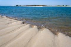 Sandbank at low tide Stock Image