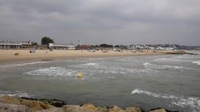 Sandbanks beach Poole Harbour Dorset England UK stock footage