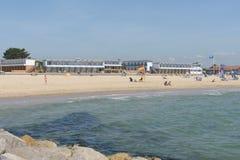 Sandbankstrand stockbild