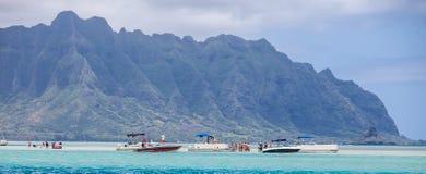 Sandbar da baía de Kaneohe Imagem de Stock