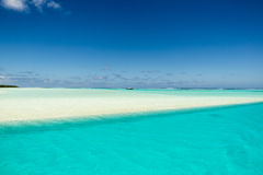 Sandbar flooded by Southern Pacific Ocean Royalty Free Stock Photography