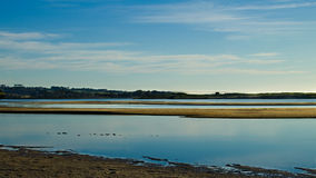 Sandbar Panorama Stock Image