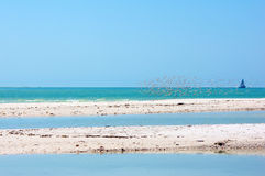 Sandbars in gulf of mexico Stock Photo