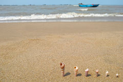 Sandbeach Fotos de Stock Royalty Free