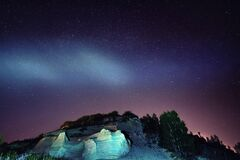 Free Sandberg Near Bratislava At Night Stock Image - 180141541