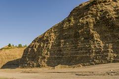 Sandberg Ural landskap medf8ort öknen like arkivbilder