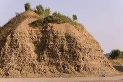 Sandberg Ural landskap medf8ort öknen like arkivfoton