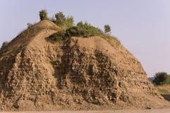 Sandberg Ural landskap medf8ort öknen like royaltyfri foto