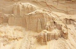 Sandberge in der Wüste Obere Kolob Hochebene Zion Nationalpark Sandy-Steigung mit laye stockfotografie