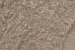 Sandbeschaffenheit vom Sandstapel Stockfotos