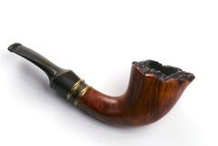 Sandblasted Pipe. A straight grain tobacco pipe stock photos