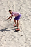 Sandboard fun Royalty Free Stock Image
