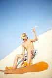Sandboard rider Royalty Free Stock Image