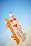 Sandboarder stock fotografie