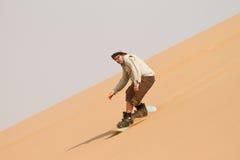 Sandboarding. On dune, Swakopmund Namibia Africa Royalty Free Stock Image