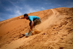 Sandboarding Royalty Free Stock Photo